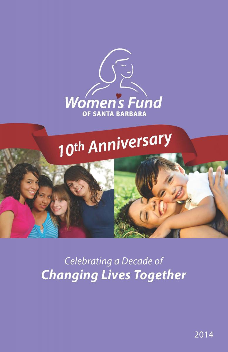 Women's Fund of Santa Barbara 10th Anniversary Brochure