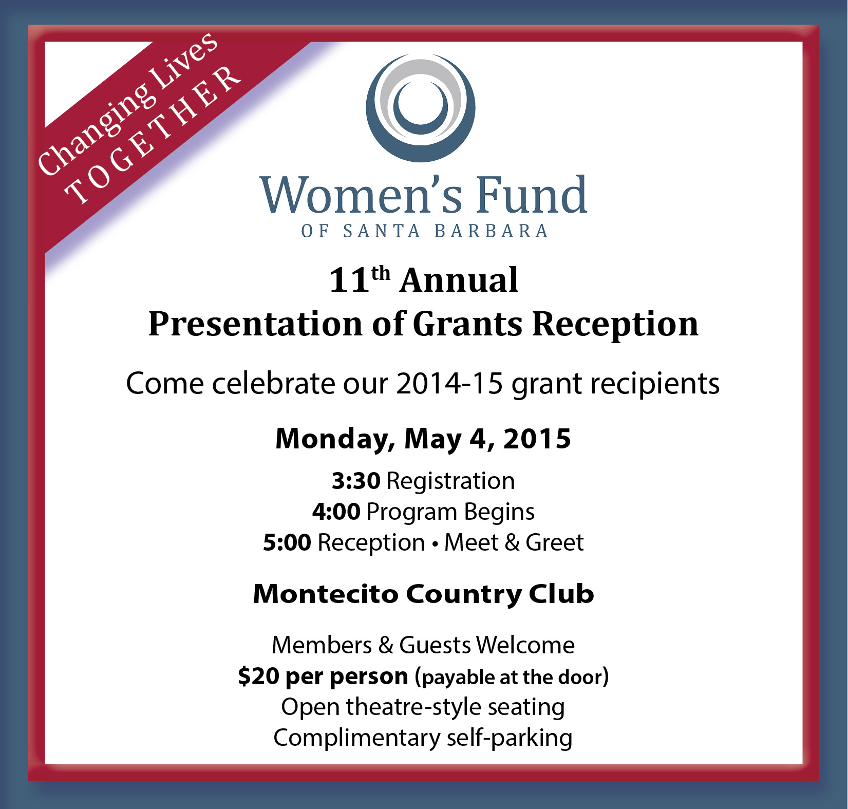 You are invited to the Women's Fund Presentation of Grants
