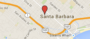 Google Map of 1111 Chapala Street, Suite 200 Santa Barbara, CA 93101