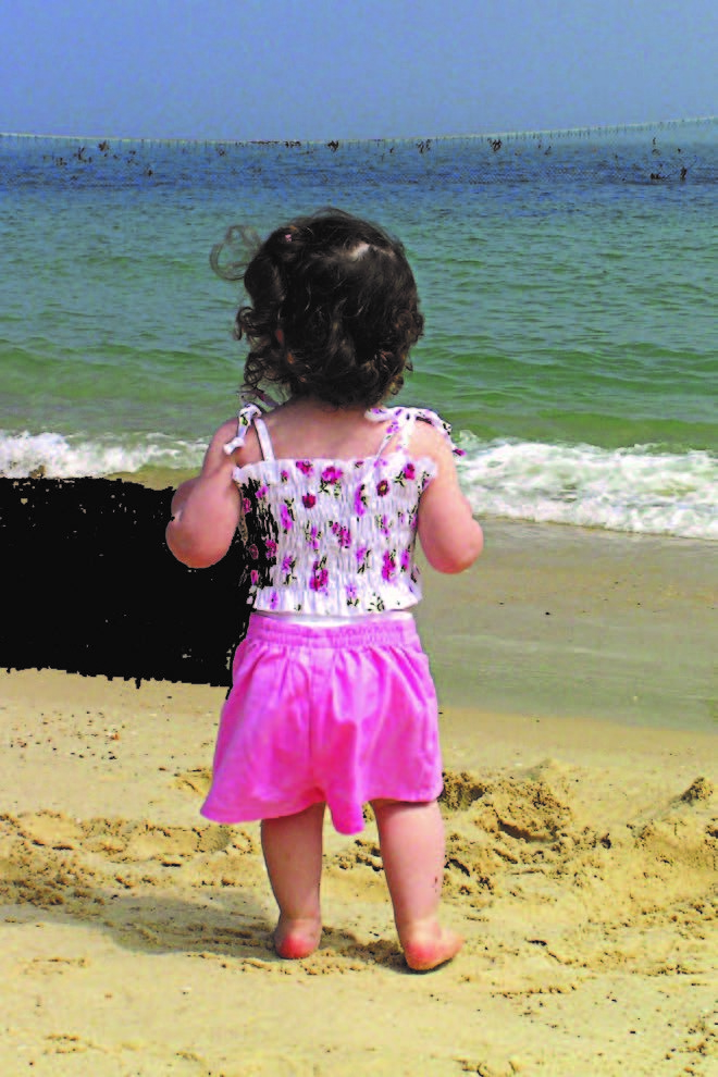 2007 Angels Foster Care of Santa Barbara - toddler on the beach