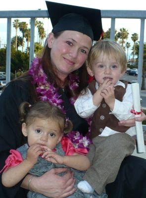 St. Vincent's of Santa Barbara:Graduate mother with two toddlers