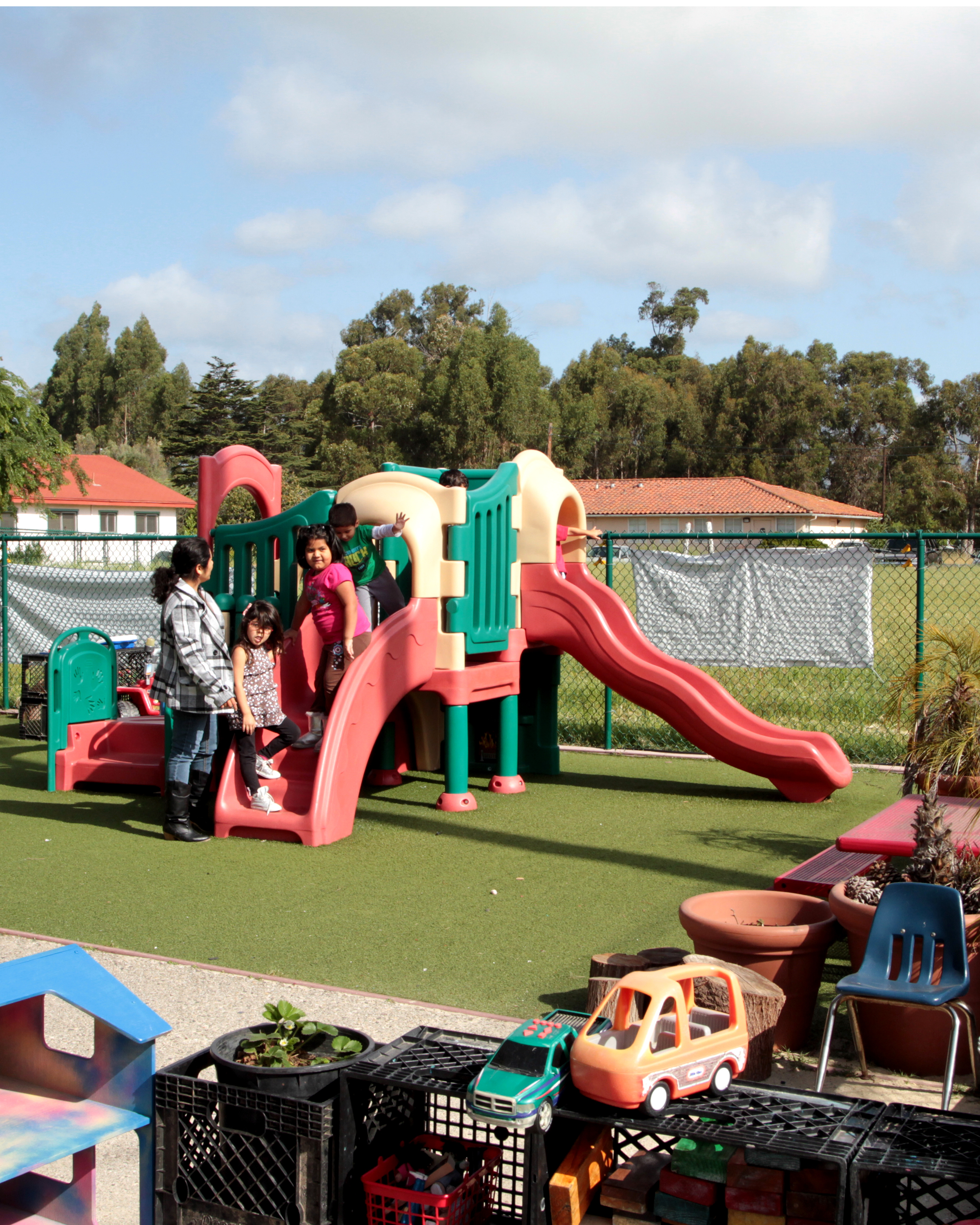 Isla Vista Youth Project: playground with slide