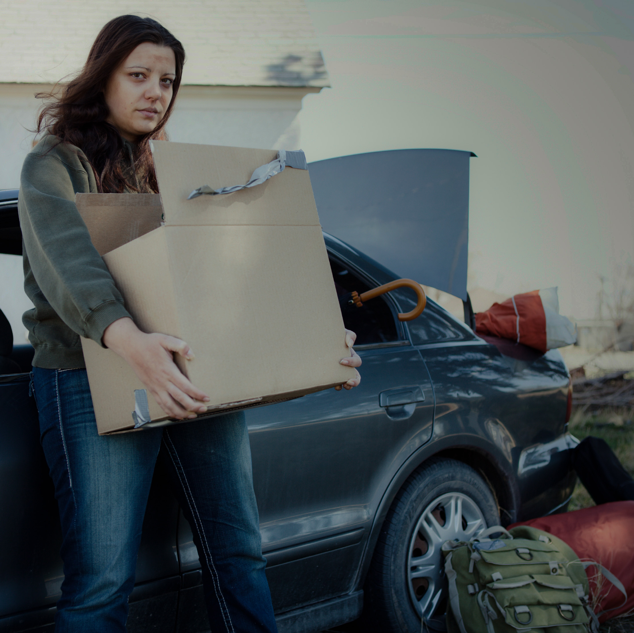 Safe Parking Program - young woman and her car
