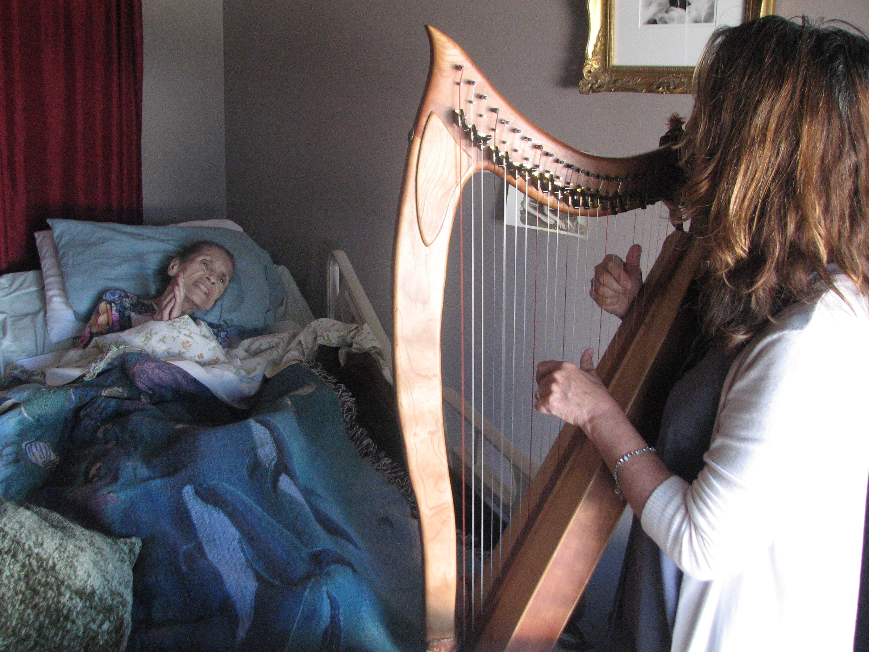 Sarah House - Harpist at bedside