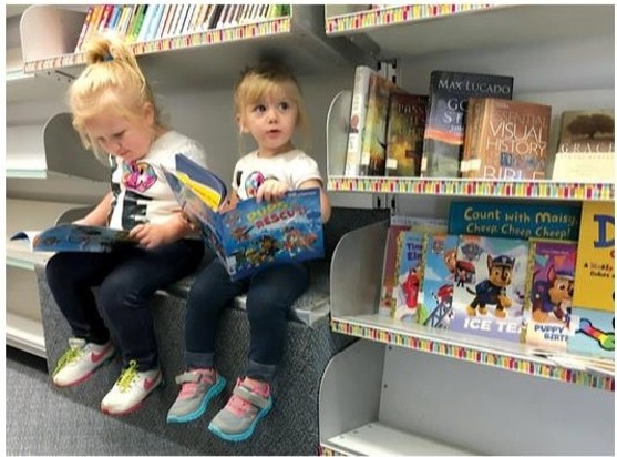 A Library-on-the-Go brings the wonder of books to children and families unable to visit a library.