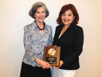 Carol Palladini, WF and Irene Macias, SB Library Director