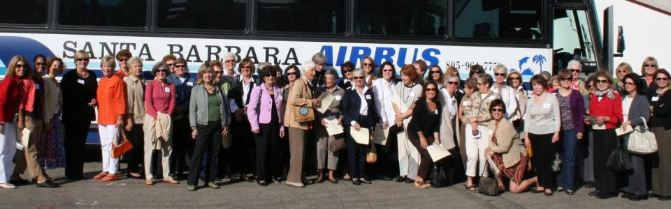 Members gather for a group photo in front of the SB Airbus