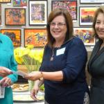 Pam Maines, WF; Michele Allyn, Friends of the SB Library; Irene Macias, SB Public Library Director