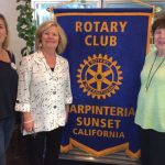 Laurie and Shelly speak to Sunset Rotary