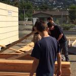 SBHS Tiny House being framed