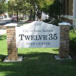 Twelve35 Teen Center: Address sign on Chapala Street