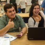 "Posse Program: Opening Doors to College: ""thumbs up"" from two students"