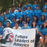 2008 Future Leaders of America group with banner
