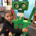 A future engineer studies science, technology, engineering, arts and mathematics at El Camino Elementary School's STEAM lab.